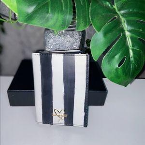 Victorias Secret Black Striped Passport Holder